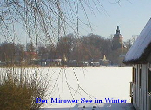 Mirower See im Winter